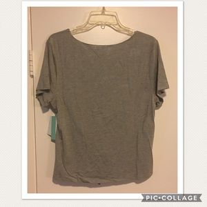 Abound Tops - Gray Cinch Ruched Crop Top Small Medium XL